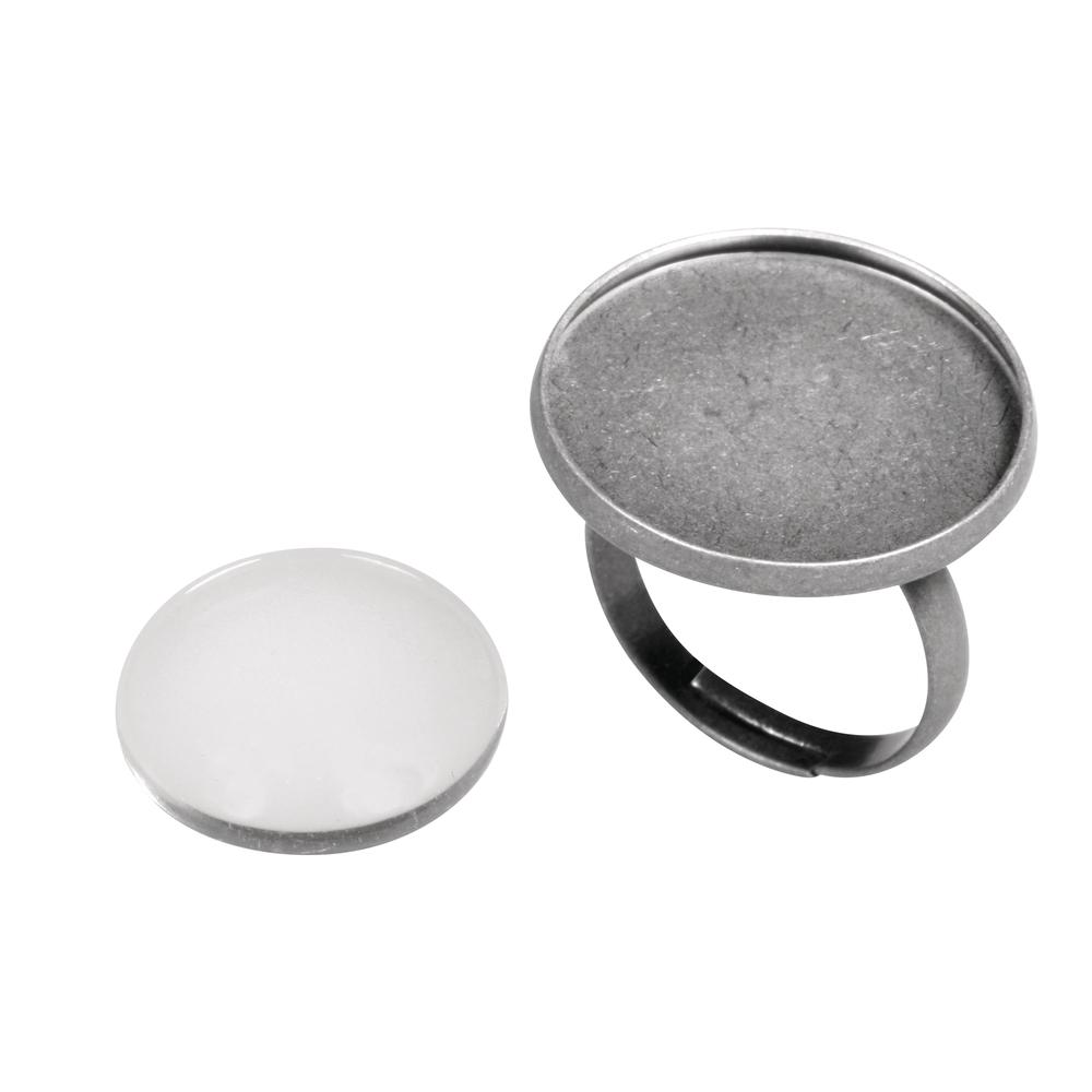 Metall- Fassung: Ring, 2,1cm ø