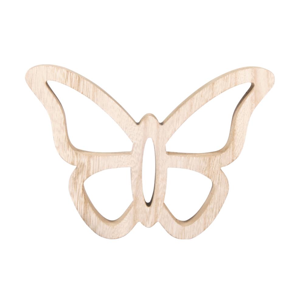 Holz Schmetterling, 18,5x14,5x2cm, natur
