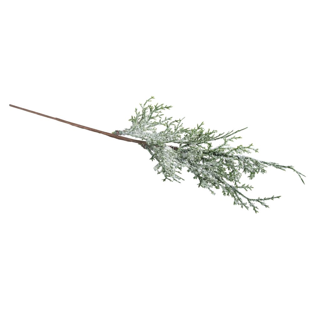 Thujazweig beschneit, 37cm