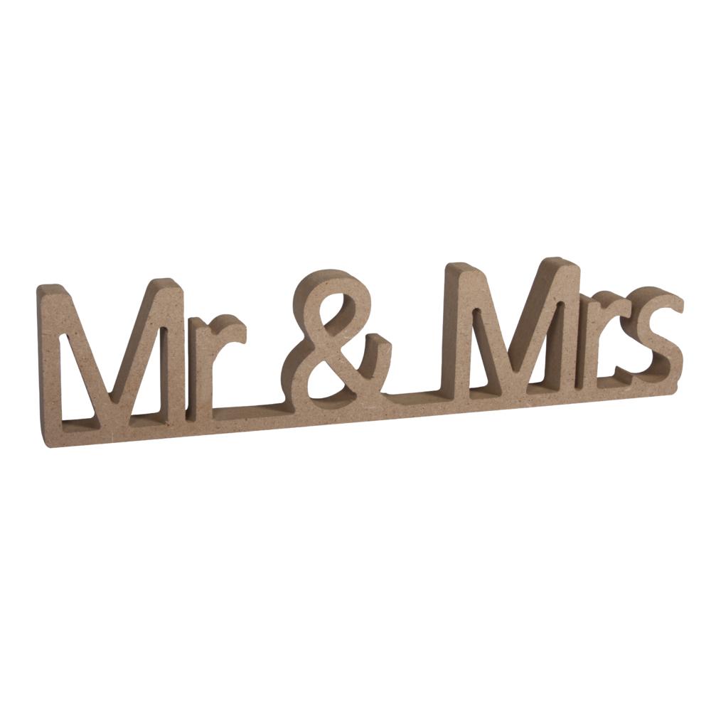 MDF Wort Mr&Mrs,FSC Mix Credit, 24x1,5x5,5cm