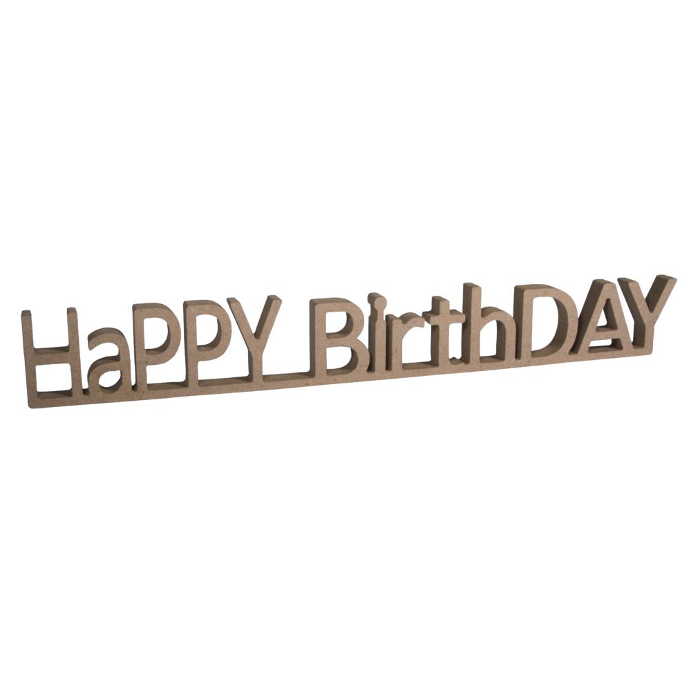 MDF Wort HaPPY BirthDAY,FSC Mix Credit, 42x1,5x5,5cm