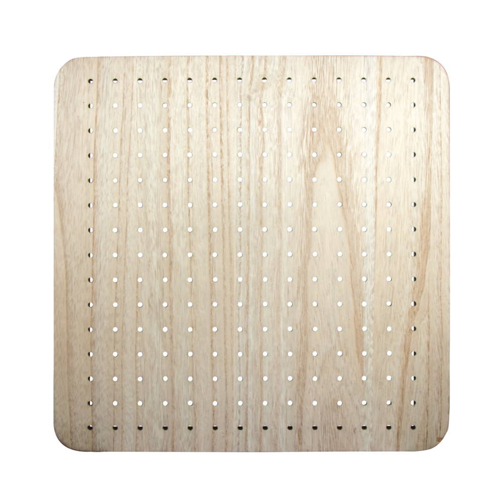 MDF Board furniert, 40x40x2,5cm, inkl. Aufhänger, natur