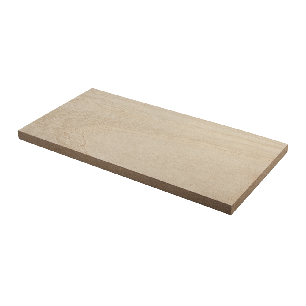 MDF Regalboden furniert, 20x10x0,9cm, SB-Btl 1Stück, natur