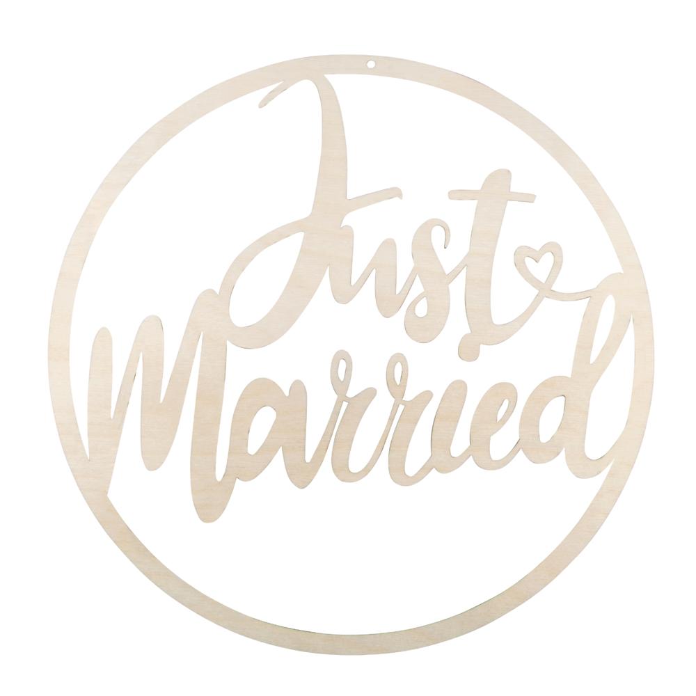 H-KranzJust married,FSCMixCred, 30cm ø, zum Hängen, Box 1Stück, natur