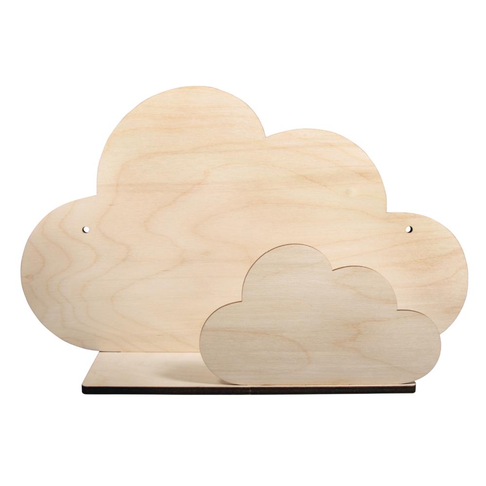 Holzbausatz Regal Wolke, FSCMixCred, 35x21x10cm, 5-teilig, Box 1Set, natur